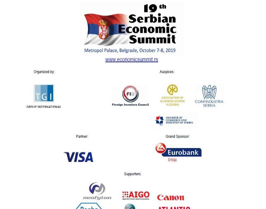 Neofyton proud sponsor of the 19th Serbian Economic Forum, 7-8 October Hotel Metropol, Belgrade