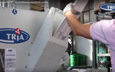 TRIA Granulator XT TL za recikliranje plastičnih profila