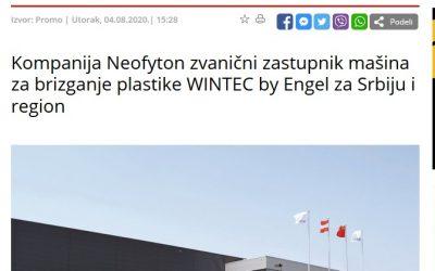 Poslovni portal ekapija – Kompanija Neofyton zvanični zastupnik mašina za brizganje plastike WINTEC by Engel za Srbiju i region