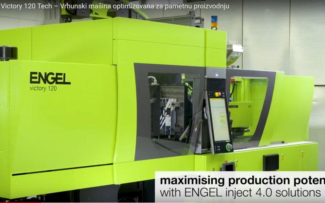 ENGEL Victory 120 Tech – Vrhunski mašina za brizganje plastike, optimizovana za pametnu proizvodnju