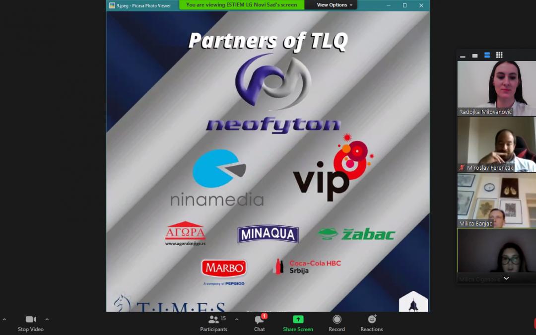 Održano takmičenje ESTIEM TIMES LQ. Generalni partner –  kompanija Neofyton.