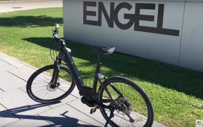 ENGEL introduction of the first injection-moulded bicycle frame together with V-Frames