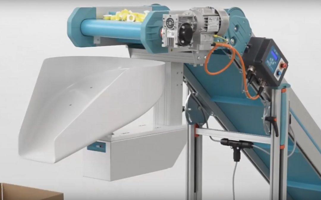 MB Conveyors – N-DUCK dispenser conveyor integrated