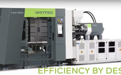 WINTEC t-win hydraulic two-platen injection molding machine with C3 controller