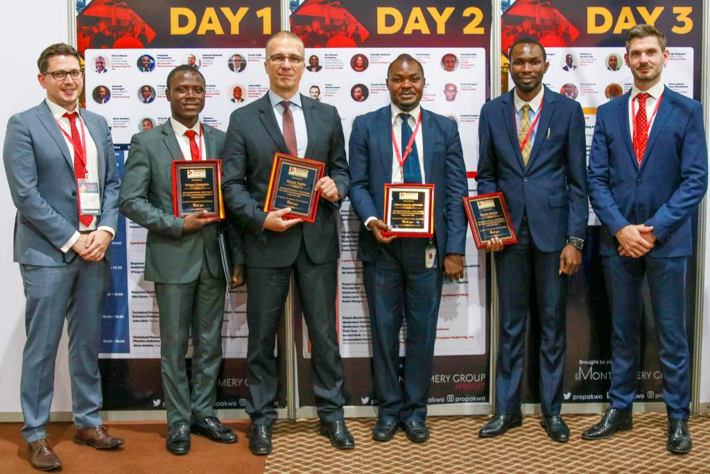 Thomas Salussolia (Afrocet Montgomery), Samson Ojosemako (PwC Nigeria), Zoran Tadić (Neofyton), Kenneth Iruonagbe (Tolaram Group), Kayode Ashamu (PwC Nigeria), George Pearson (Montgomery Group)